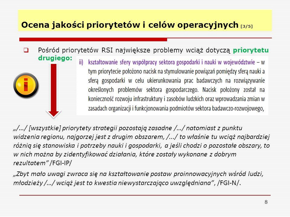 Ocena jakości priorytetów i celów operacyjnych [3/5]